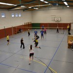 Volleyballturnier in der Mehrzweckhalle