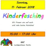 Ankündigung: Kinderfasching 2018